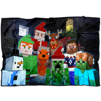 Minecraft Festive Fleece Blanket Lightweight Supremely Soft & Cozy