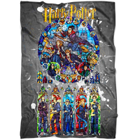 Harry Potter Fleece Blanket Color Splash Grey Blanket