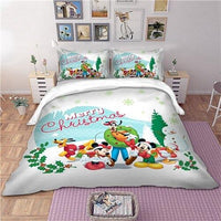 Christmas Bedding Sets Mickey and Minnie Twin Full Queen King Size Kids Bedlinen - Lusy Store