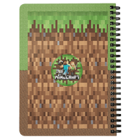 Classic minecraft Spiralbound Notebook 3D Lovely Notebook Office School Supplies Gift - Lusy Store