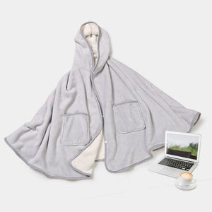 Comfy Hooded Blanket Comfortable Blanket For Lovers Tv Blanket Solid Warm Hooded Blankets Adults And Children - Lusy Store