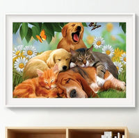 Diamond Painting Animals Embroidery DIY Dog Cat