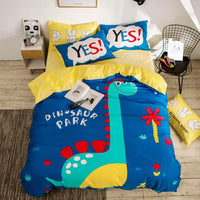 Dinosaur Bedding Printed Cover Bed Set Cotton Twin Full Queen Size Home Textiles - Lusy Store