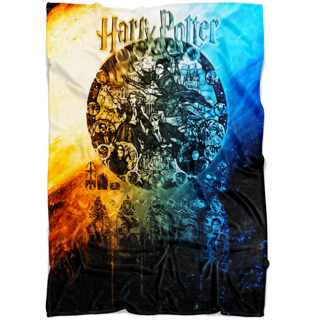 Harry Potter Fleece Blanket Commando Black Blanket