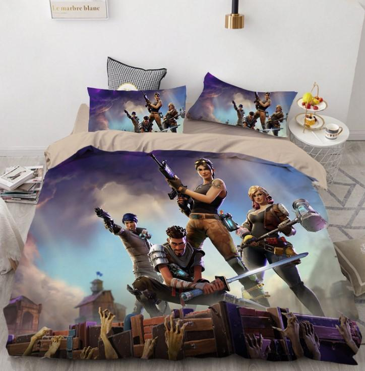 Fortnite Bed Set 3D Digital Home Textile Europe and The United States Quilt Cover High Quality BD168 - Lusy Store