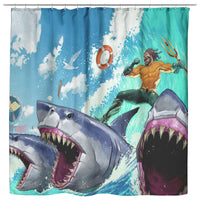 Fortnite Curtain Aquaman Sea Curtain Bathroom Decor FB469