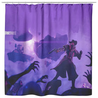 Fortnite Curtain For Bathroom Purple Curtain FB474