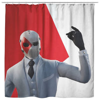 Fortnite Curtain Red and White Curtain Bathroom Decor FB472