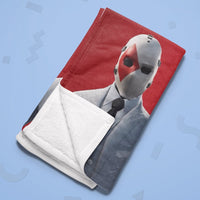 Fortnite Fleece Blanket Wild Card Skin Red and White Soft Blanket FB472 - Lusy Store