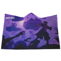 Fortnite Hooded Blanket Soft and Cozy Purple Blanket FB474