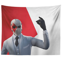 Fortnite Tapestry Red and White Tapestry Wall Decor FB472