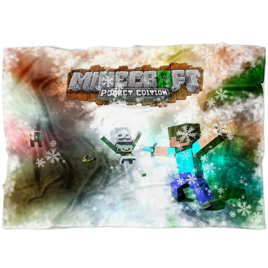 Minecraft Fleece Blanket Celebratum White Blanket