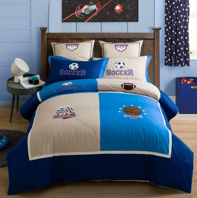 Girls Bedding Sets Cotton Satin Boy And Girl Cute Little Embroidery Bedding BD247 - Lusy Store