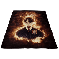 Harry Potter Fleece Blanket Blasting Brown Blanket - Lusy Store