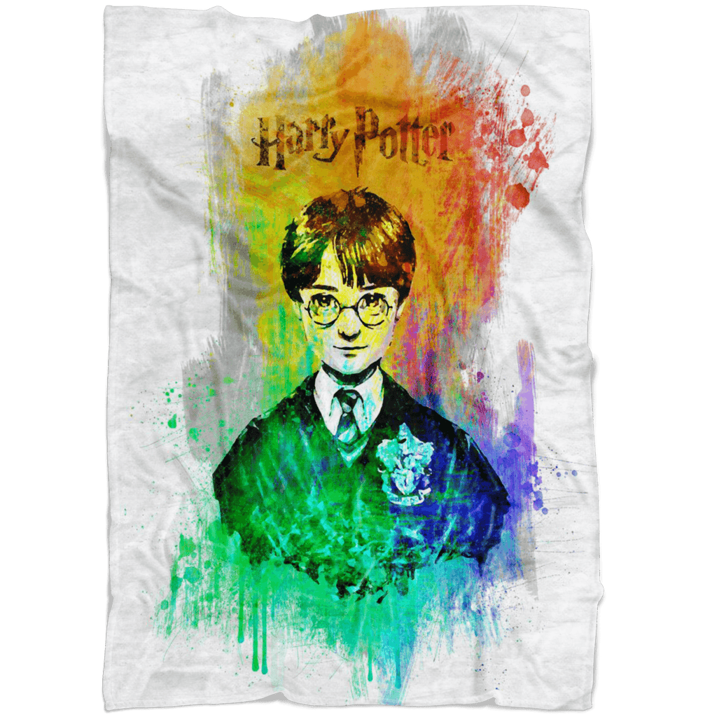 Harry Potter Fleece Blanket Chroma Art Colorful Blanket - Lusy Store