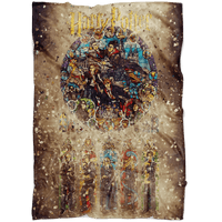 Harry Potter Fleece Blanket Destruction Yellow Blanket - Lusy Store