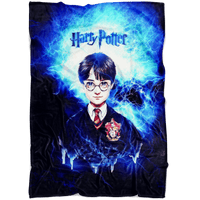 Harry Potter Fleece Blanket Electric Brown Blue Blanket - Lusy Store