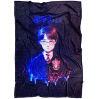 Harry Potter Fleece Blanket Hologram Black Blanket - Lusy Store