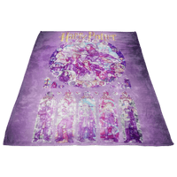 Harry Potter Fleece Blanket Magic Night Purple Blanket - Lusy Store