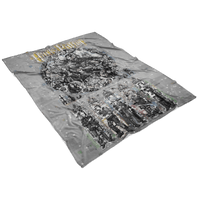 Harry Potter Fleece Blanket Pixels Grey Blanket - Lusy Store