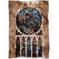 Harry Potter Fleece Blanket Real Oil Painting Brown Blanket - Lusy Store
