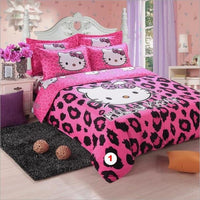 Hello Kitty Bedding Sets Duvet Cover Sets Soft Polyester Bed Linen Flat Bed Sheet