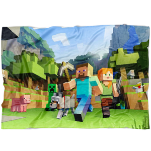 Minecraft Fleece Blanket  3D Fleece Lightweight Supremely Soft & Cozy Fleece Lightweight Casual
