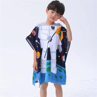 Kids Hooded Blanket Beach Towel For Children For Bathing Swimming Pool Childrens Bathrobe - Lusy Store