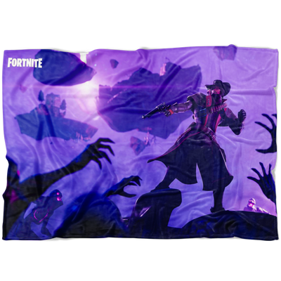Fortnite Fleece Blanket Soft and Cozy Purple Blanket FB474