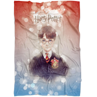 Harry Potter Fleece Blanket Hoildays Bokeh Colorful Blanket