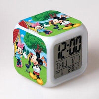 Mickey Mouse Alarm Clock For Kids Bedroom Digital Kawaii Anime PVC Birthday Toy A289