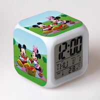 Mickey Mouse Alarm Clock For Kids Bedroom Digital Kawaii Anime PVC Birthday Toy A290