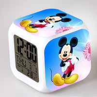 Mickey Mouse Alarm Clock For Kids Bedroom Digital LED 7 Changed Night Light A106