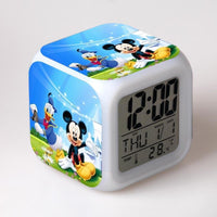 Mickey Mouse Alarm Clock For Kids Bedroom Digital LED 7 Changed Night Light G102