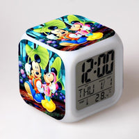 Mickey Mouse Alarm Clock For Kids Bedroom Digital LED 7 Changed Night Light G103
