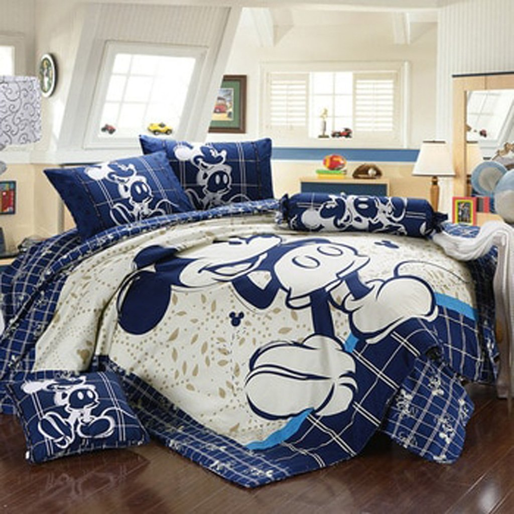 Mickey Mouse & Friends Goofy Egyptian 100% Cotton Bed Linen Bedroom Decor Blue Bedding Sets Luxurious MMF2 - Lusy Store