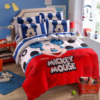Mickey Mouse & Friends Twin Full Queen Sheet Sets Duvet Cover White Bedding Sets MM6 - Lusy Store