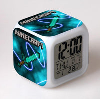 Minecraft Alarm Clock Colorful LED Night Light - Lusy Store