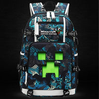 Minecraft Backpack Male Female Students Single Creeper Backpack Unique Premium Quality B139 - Lusy Store