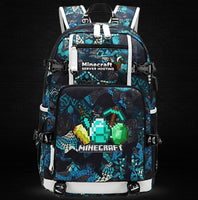 Minecraft Backpack Male Female Students Single Creeper Backpack Unique Premium Quality B142 - Lusy Store
