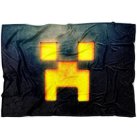 Minecraft Blanket Creeper Minecraft Fleece Soft Blanket MC896