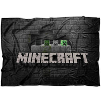 Minecraft Blanket Creeper Minecraft Fleece Soft Grey Blanket MC907