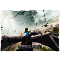 Minecraft Blanket Ender Dragon World Fleece Soft Blanket MC912