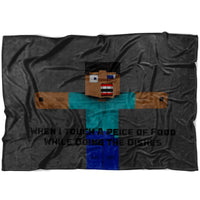 Minecraft Blanket Funny Minecraft Fleece Soft Blanket MC898