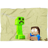 Minecraft Blanket Funny Minecraft Fleece Soft Blanket MC899
