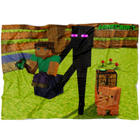 Minecraft Blanket Funny Minecraft Fleece Soft Blanket MC901