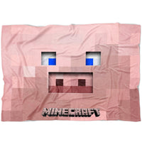 Minecraft Blanket Piglet Minecraft Funny Fleece Soft Blanket MC913