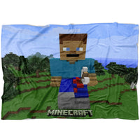 Minecraft Blanket Steve Minecraft Fleece Soft Blanket MC902
