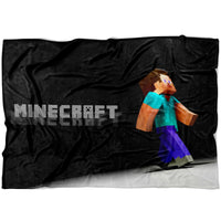 Minecraft Blanket Steve Minecraft Fleece Soft Blanket MC909