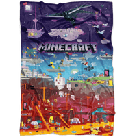 Minecraft blanket world funny microfiber fleece